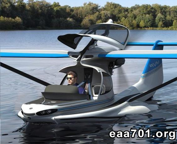 Amphibious experimental aircraft uses