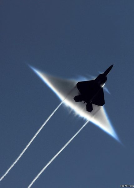 Aircraft photo breaking sound barrier
