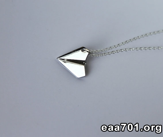 Aircraft photo necklace