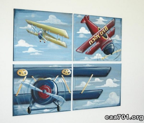 Aircraft photo to canvas