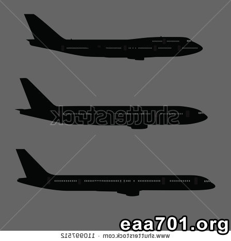 Aircraft silhouettes images