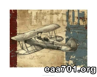 Vintage aircraft photo art