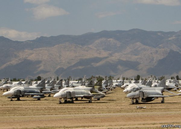 Aircraft boneyard photo