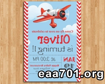 Airplane birthday invitations with photo