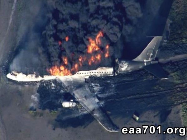 Airplane crash photo