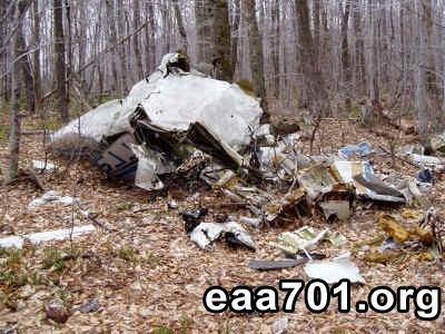 Airplane crash site photos