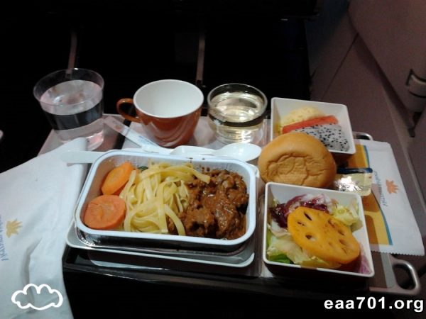Airplane food photo