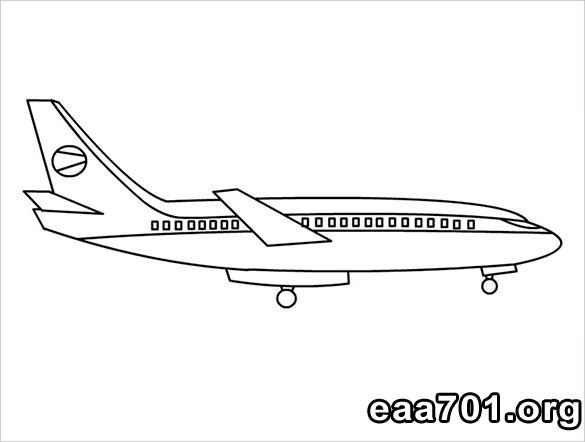 Airplane images coloring pages