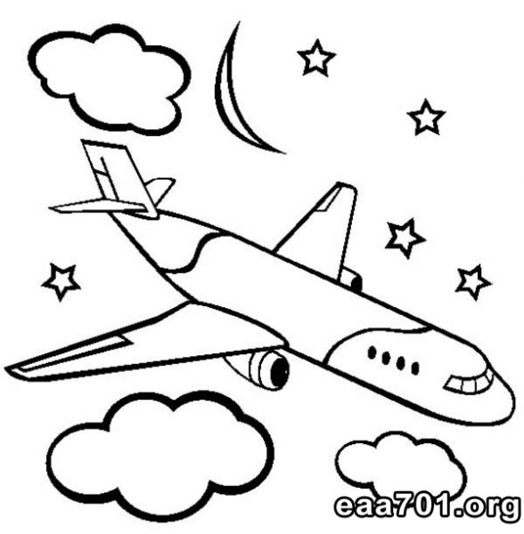 Airplane images for coloring