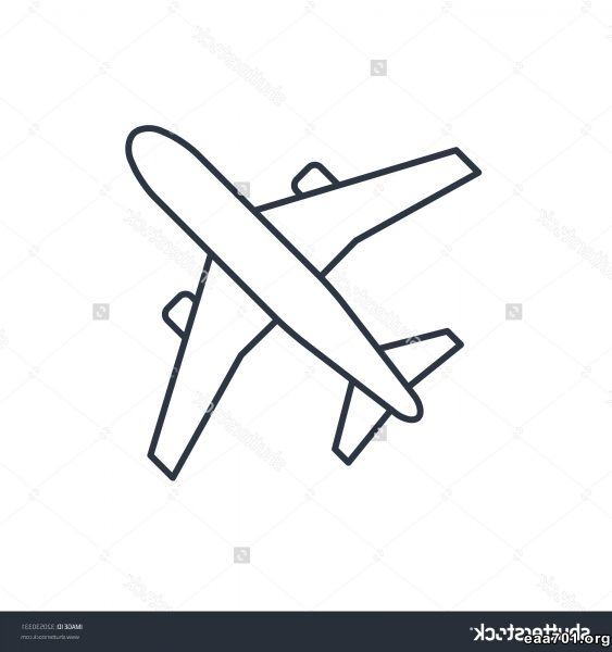 Airplane images outline