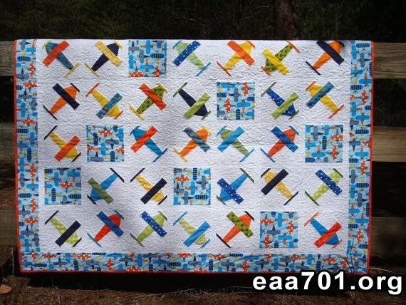Airplane images quilts