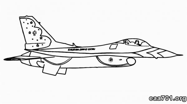 Airplane images to color