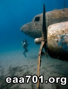 Airplane images under the sea