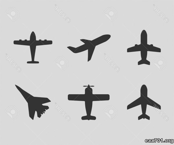 Airplane images vector