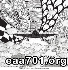 Airplane images zentangle