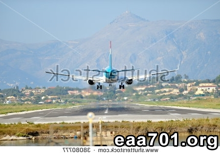 Airplane landing photo
