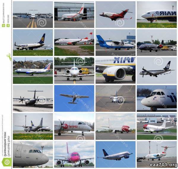 Airplane photo collage