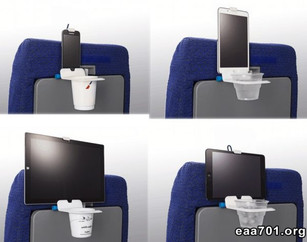 Airplane photo holder