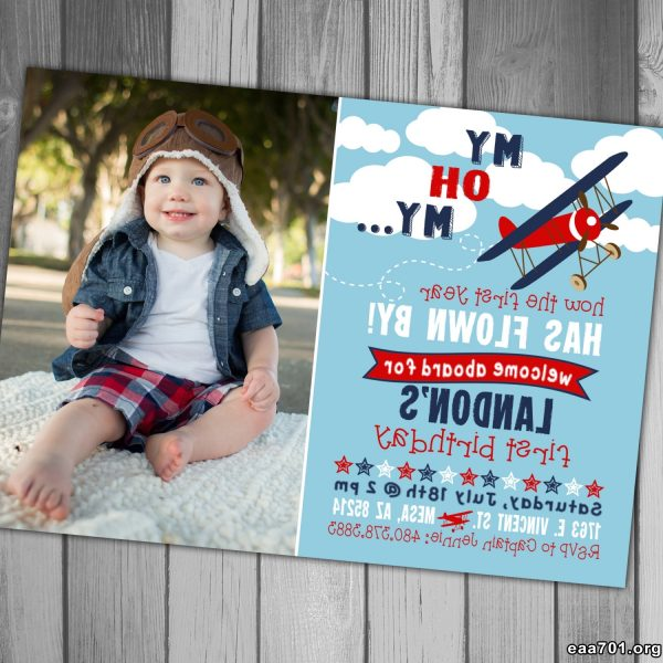 Airplane photo invitation