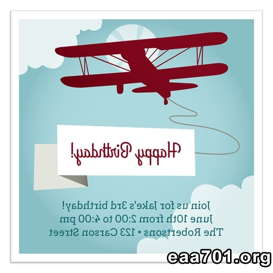 Airplane photo invitations