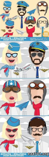 Airplane themed photo booth
