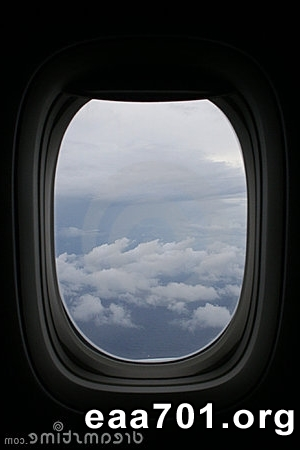 Airplane window images