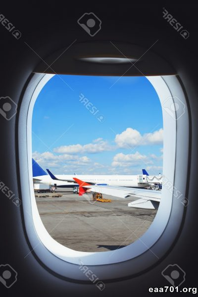 Airplane window view images