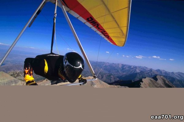 Hang glider photo urns