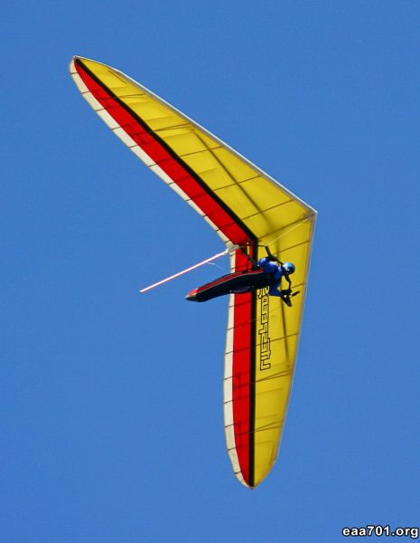 Hang glider photo yellow