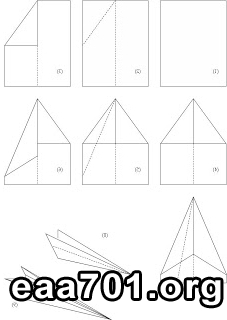 Paper airplane images steps