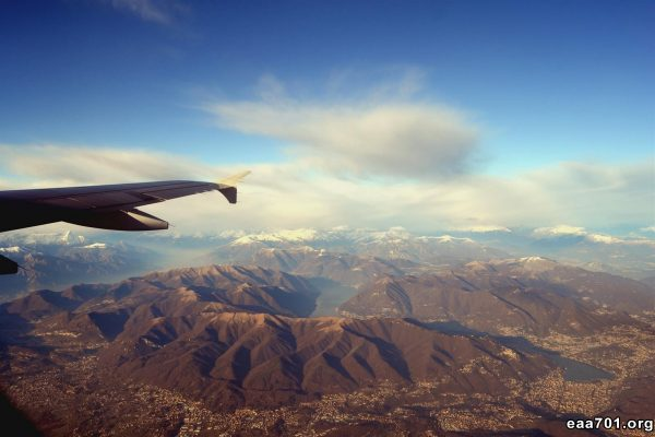Photos from airplane window
