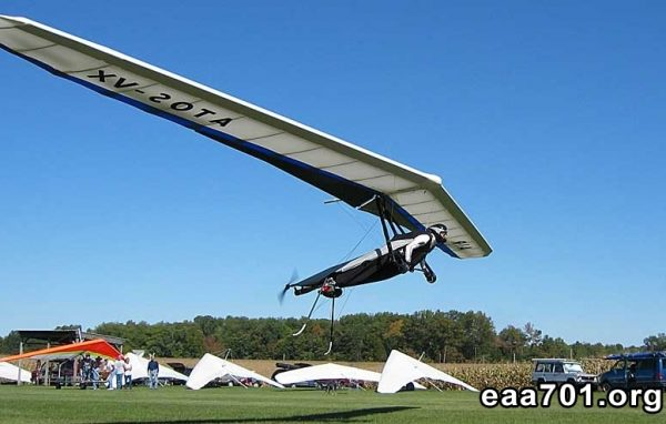 Powered hang glider images