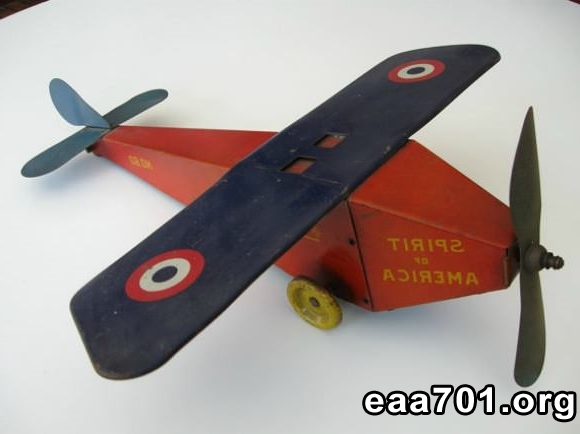 Vintage toy airplane photo prop