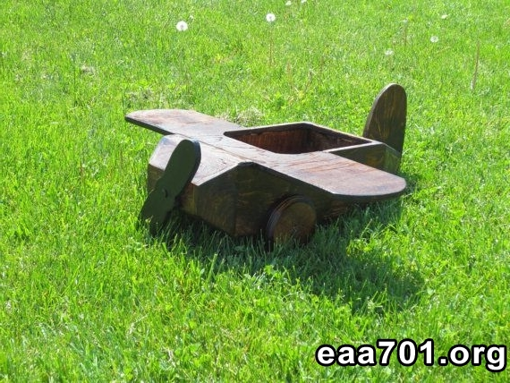 Wooden airplane photo prop