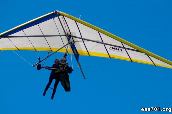 Hang glider photo developing