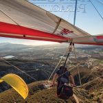 Hang glider photo display