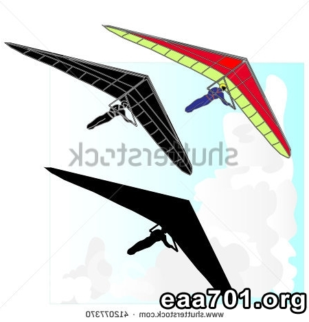 Hang glider photo logo