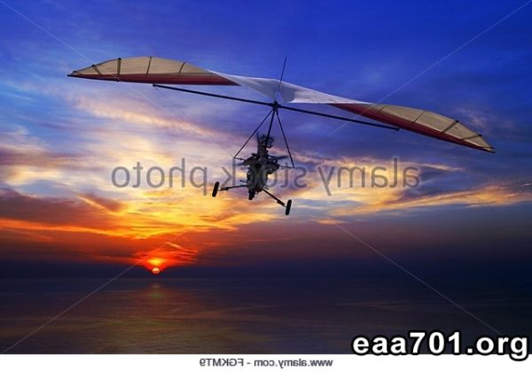 Hang glider photo montage