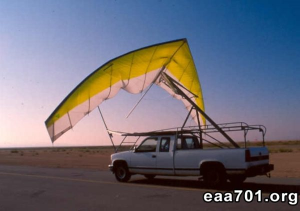 Hang glider photo negative