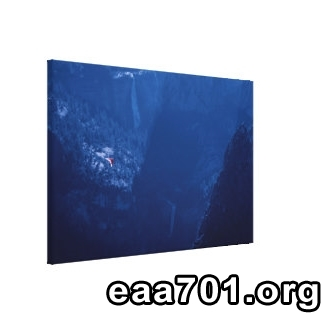 Hang glider photo on canvas