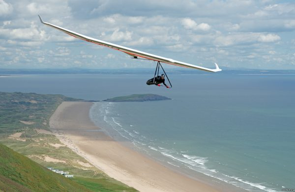 Hang glider photo sharing