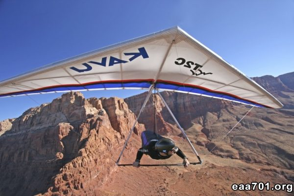 Hang glider photo shoot
