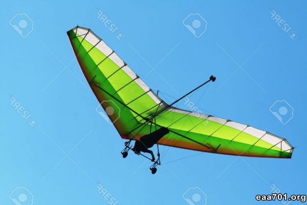 Hang glider photo stock