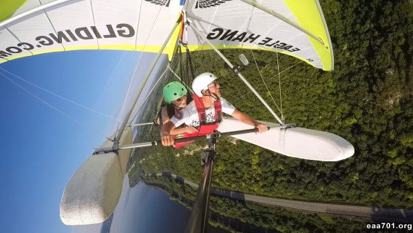 Hang glider photo storage