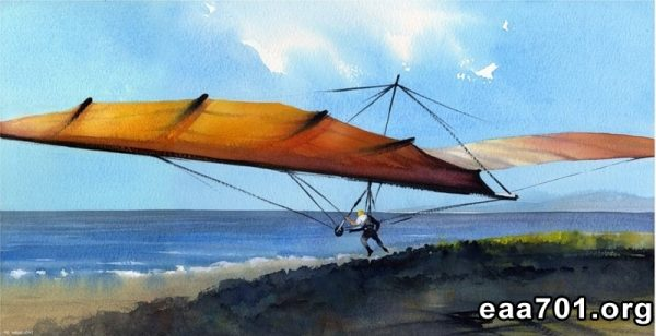 Hang glider photo to painting